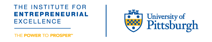 Institute for Entrepreneurial Excellence wordmark with University of Pittsburgh shield logo