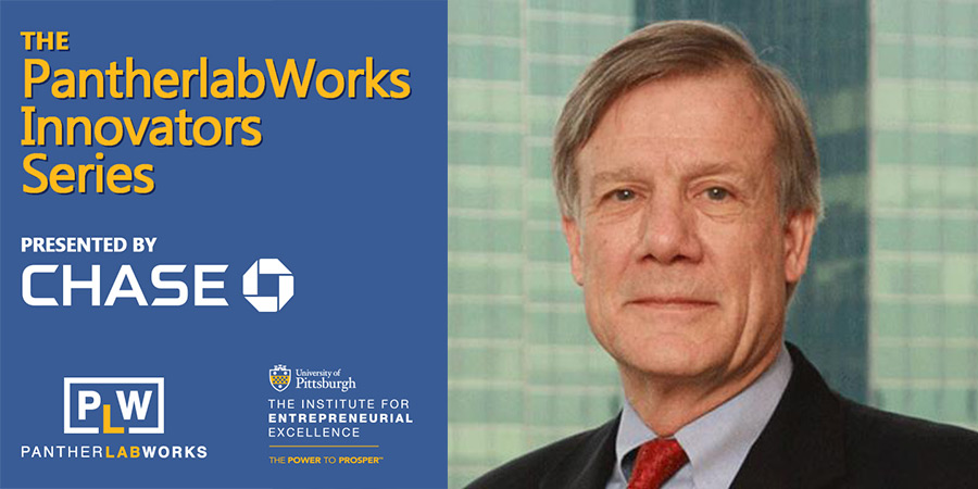 PantherlabWorks Innovators Series presented by Chase with headshot of Jim Glassman, Commerical Banking Chief Economist