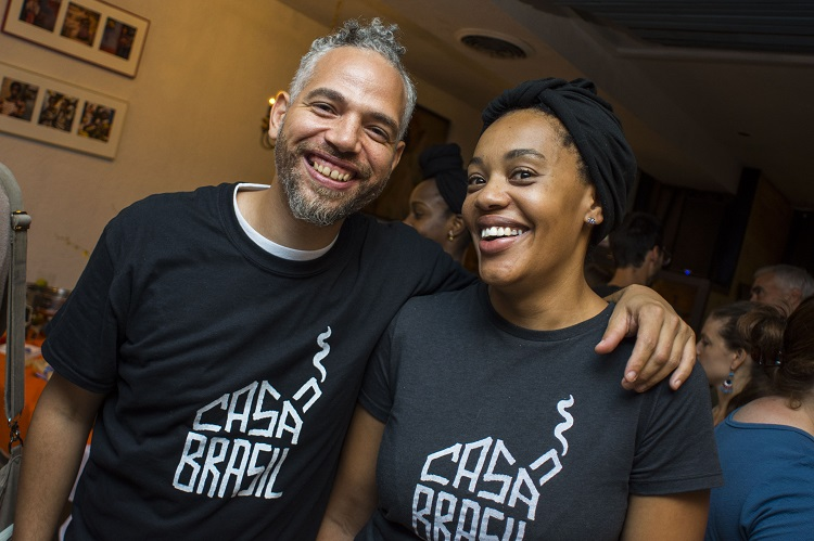 Keyna Noguiera Cook (right) and Tim Guthrie (left) of Casa Brasil in Highland Park