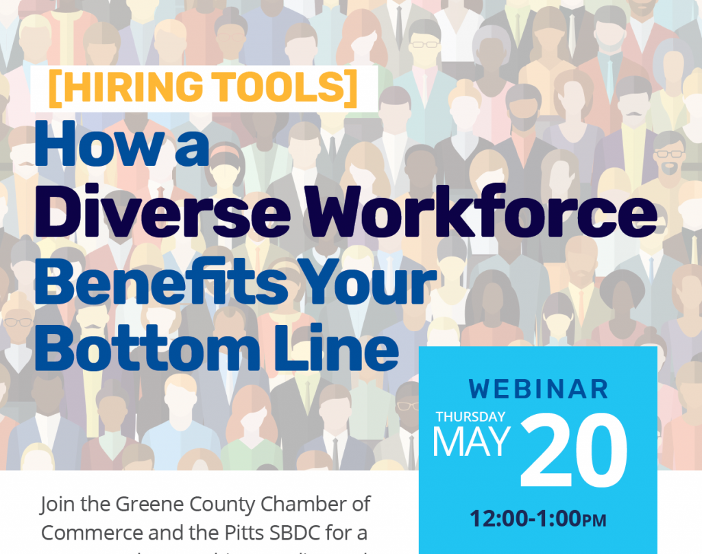 Hiring Tools: How a Diverse Workforce Benefits Your Bottom Line with Greene County Chamber of Commerce and Pitt SBDC