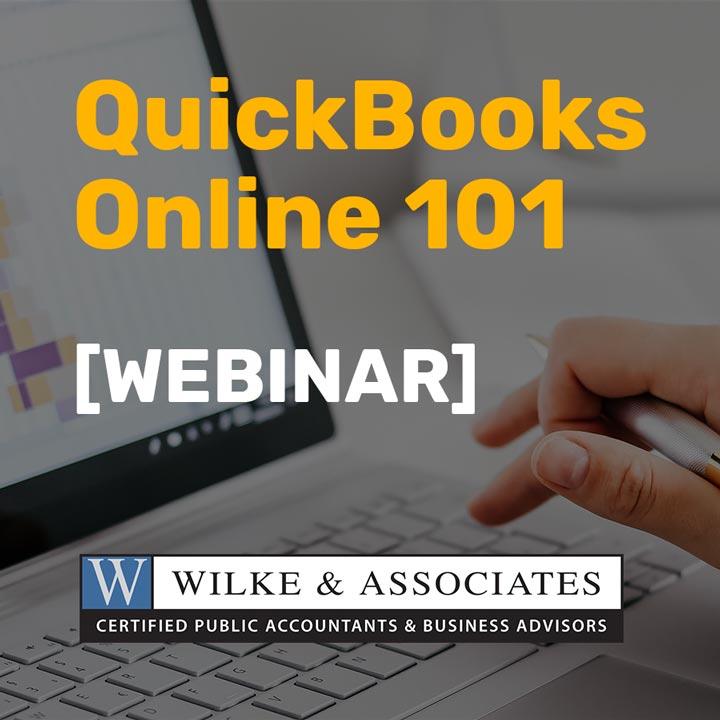 QuickBooks Online 101 webinar banner