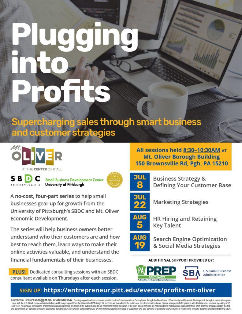 Plugging into Profits Mt. Oliver flyer