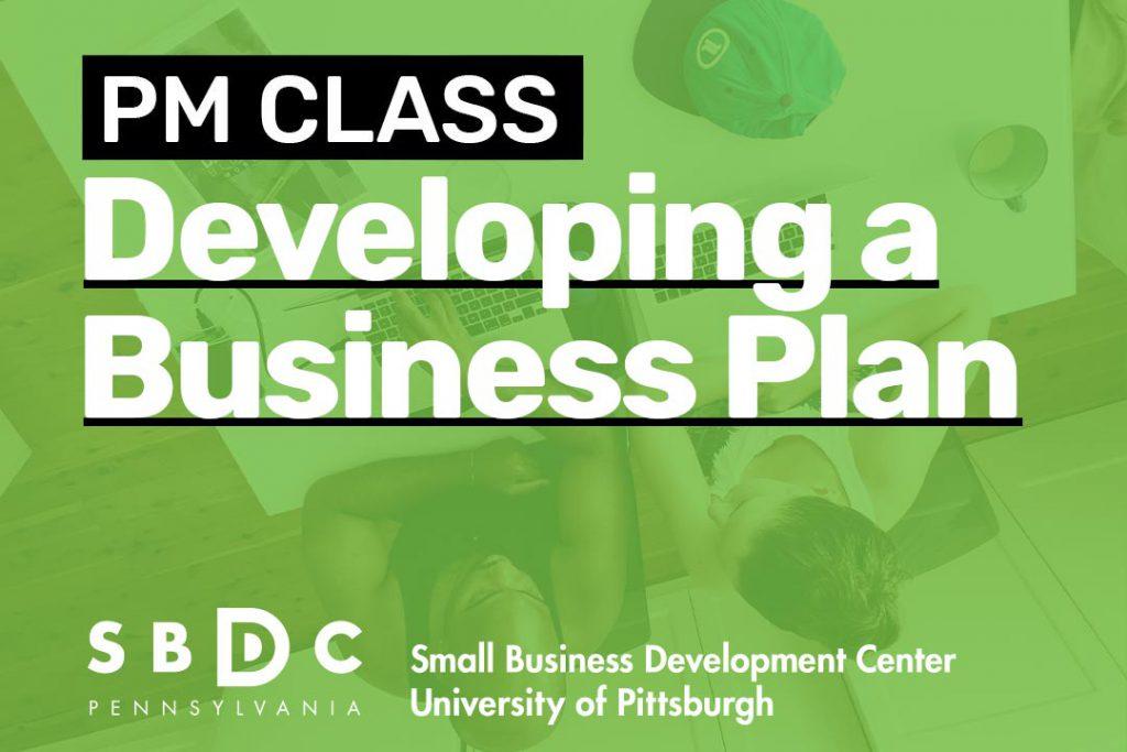 Developing a Business Plan PM Class banner